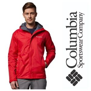Columbia Windbreaker Jacket in Red/Orange